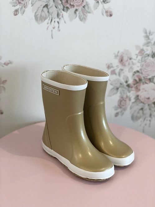 Rain Boots Gold
