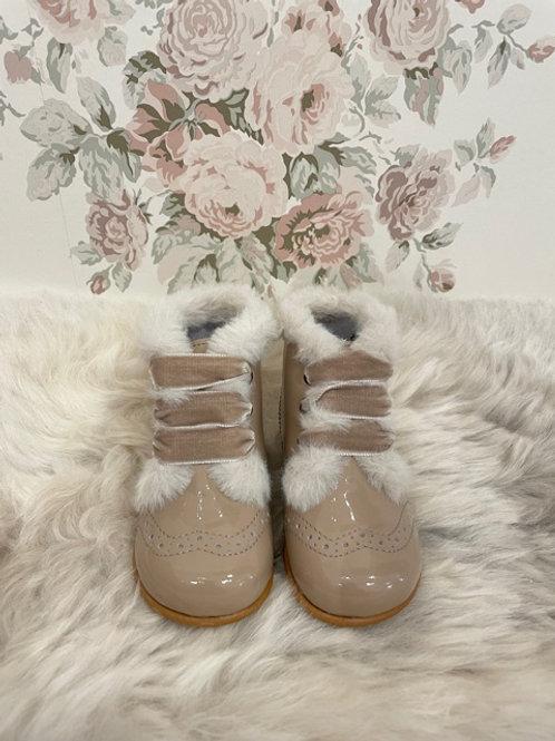 Boots Agnes Taupe Fur