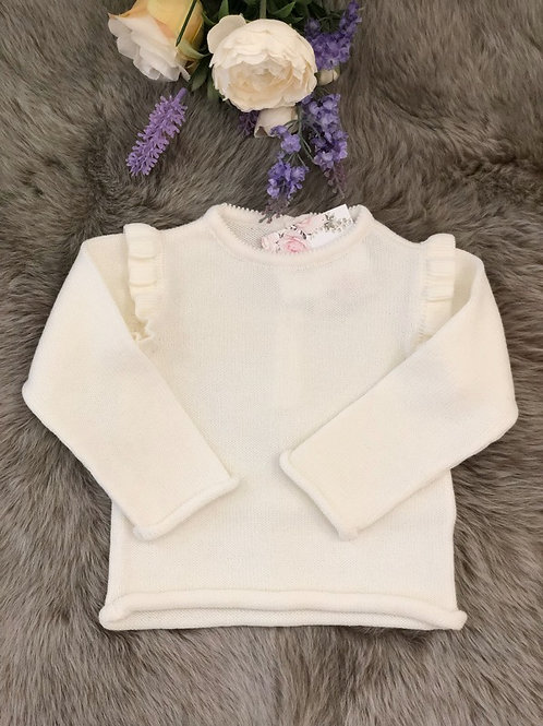 Sweater knitted Ivory Frill