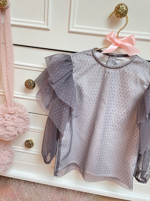 Blouse Tulle Grey