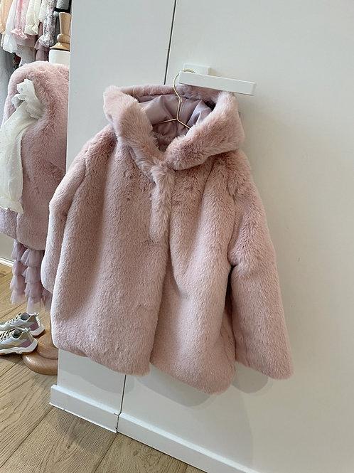 Teddy Coat Pink with Hoodie