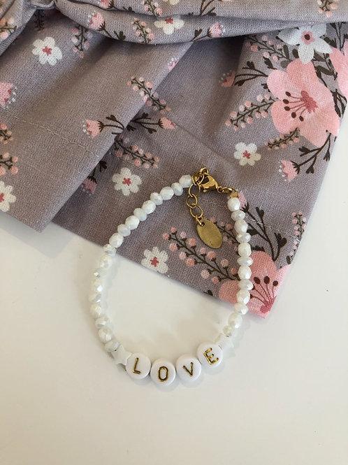 Bracelet Love white