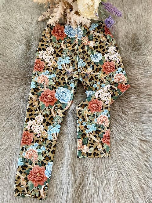 Leggings Floral Leopard