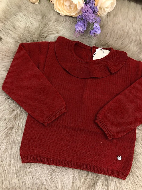 Sweater knitted Burgundy