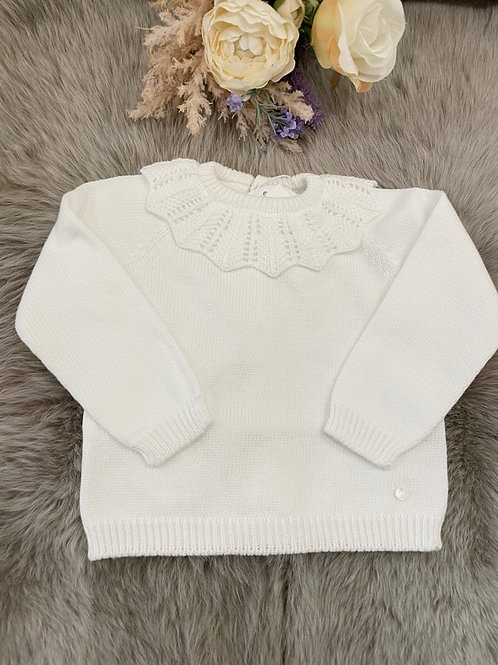 Sweater Ivory Collar