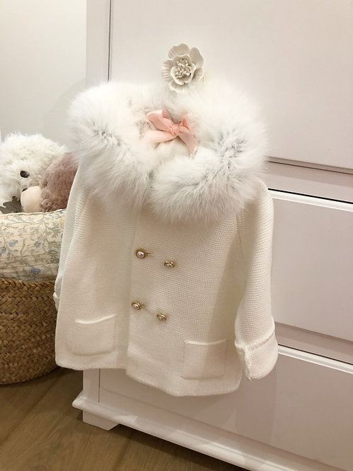 Ivory Furry Jacket