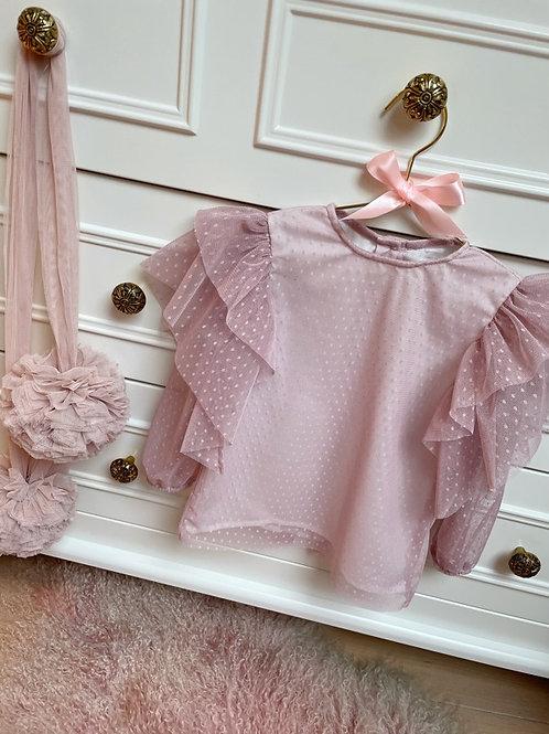Blouse Tulle Blush Pink