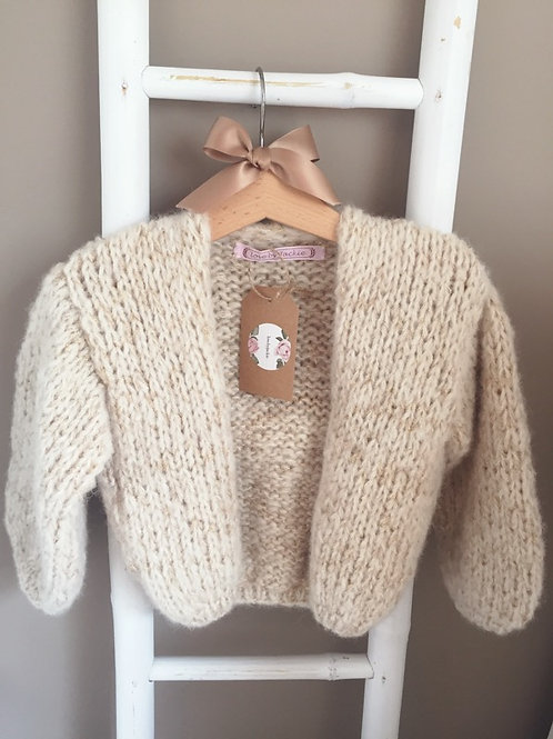 Knitwear Cardigan Cream/Lurex