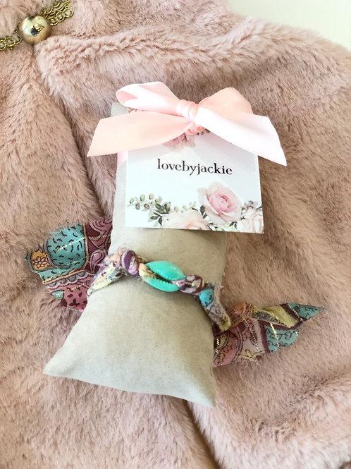 Shell Bracelet Boho Mint