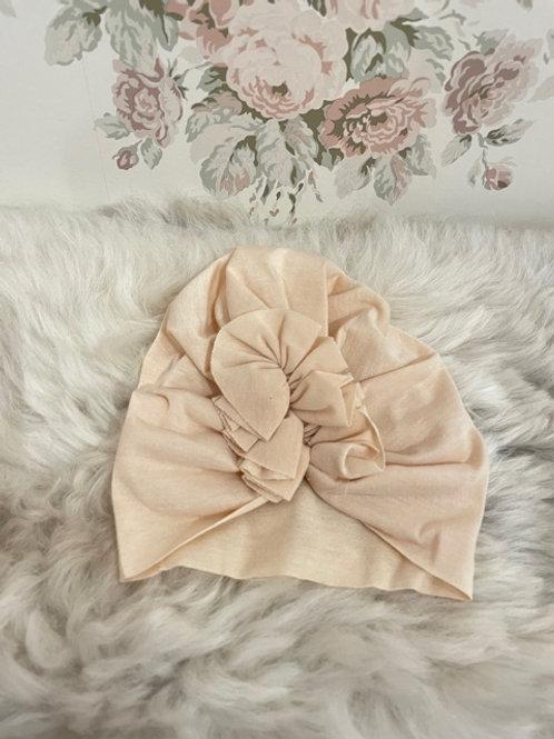 Baby Turban Hat Ivory