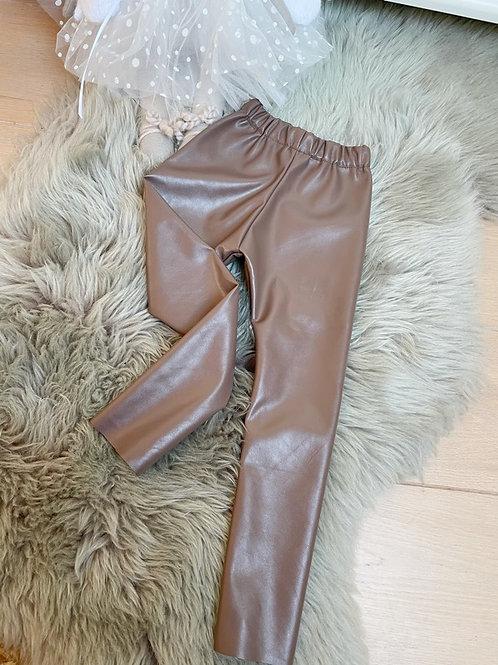 Leggings Taupe Leather