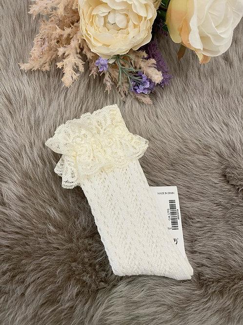 Romantic Socks Lace Ivory