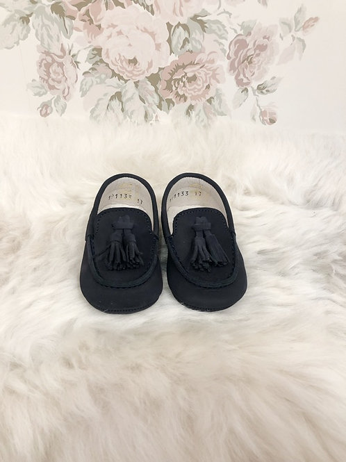 Navy Blue Scott Moccasin