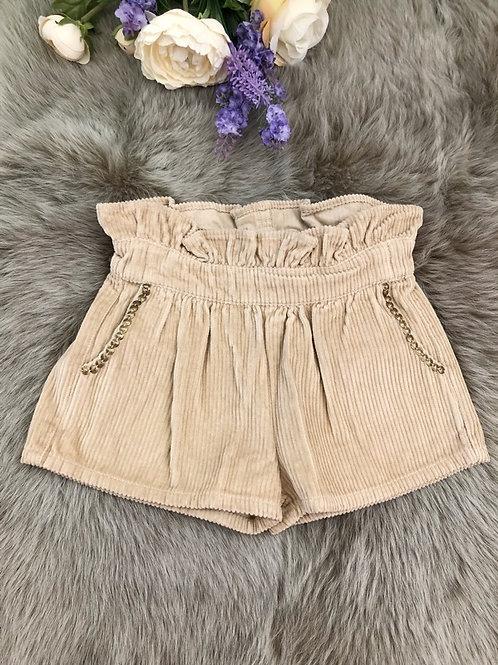 Shorts Velvet Beige