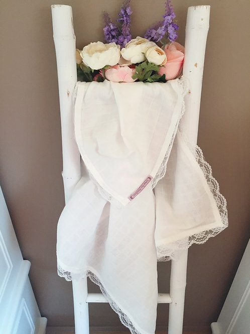 Baby Swaddle White Lace