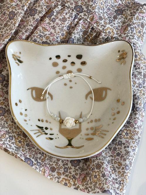 Bracelet floral Ivory