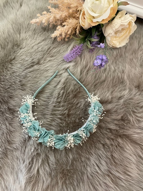 Hairband Floral Dusty Blue