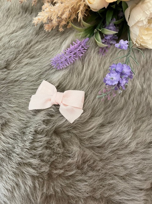 Grosgrain Bow Small Satin Pink