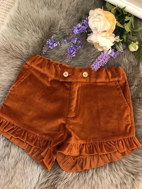 Shorts Velvet Cognac