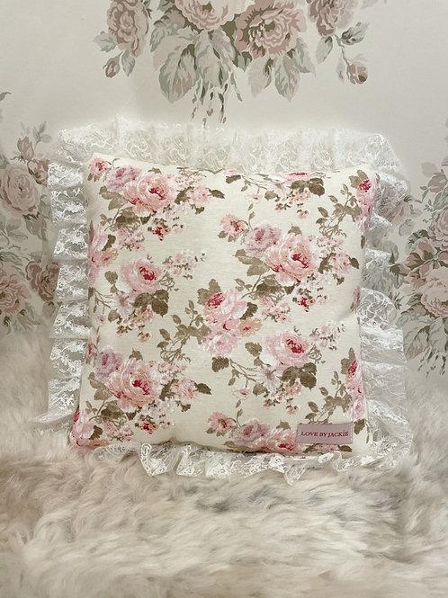 Decorative Cushion Ivory Lace
