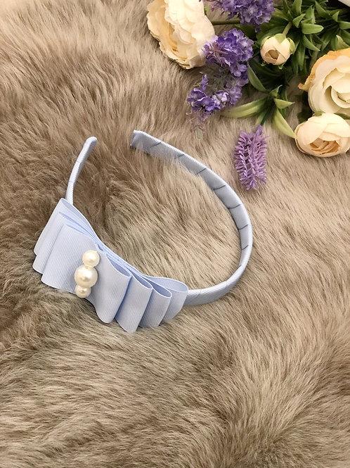 Hairband Ice Blue pearls