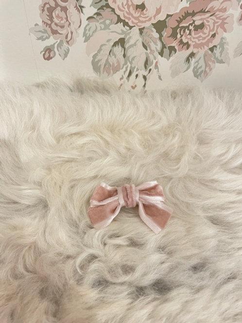 Bow Velvet Mini Pink
