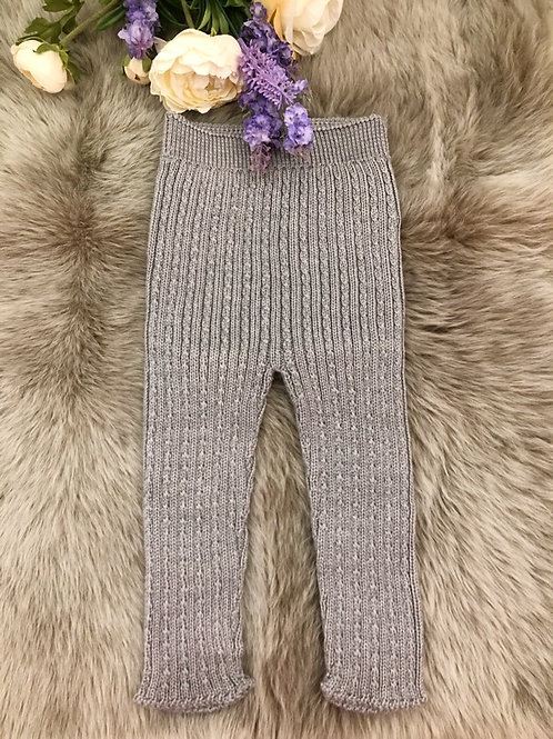 Cable Leggings  Grey