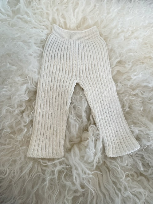 Knitted Leggings Wedoble Cable Ivory