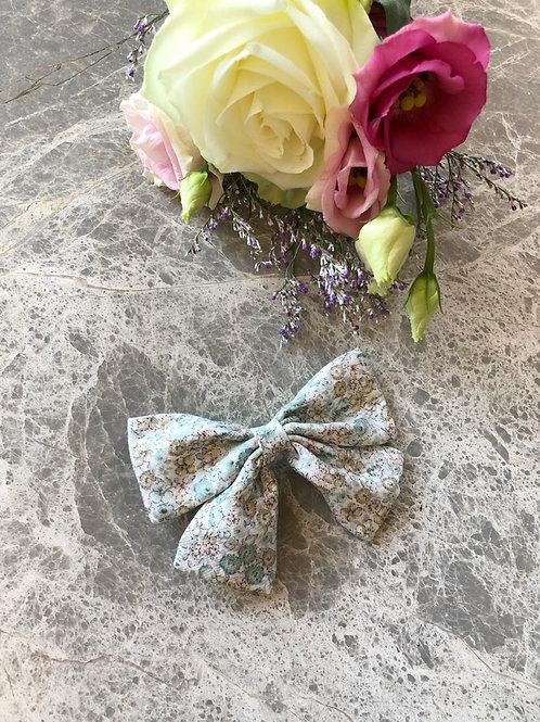Bow Floral Aqua