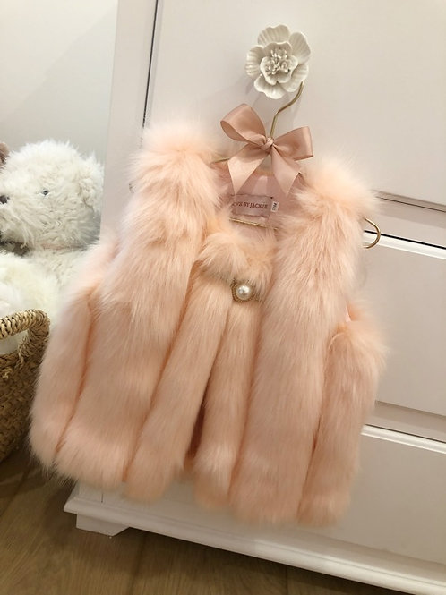 Luxury Furry Gilet Soft Pink