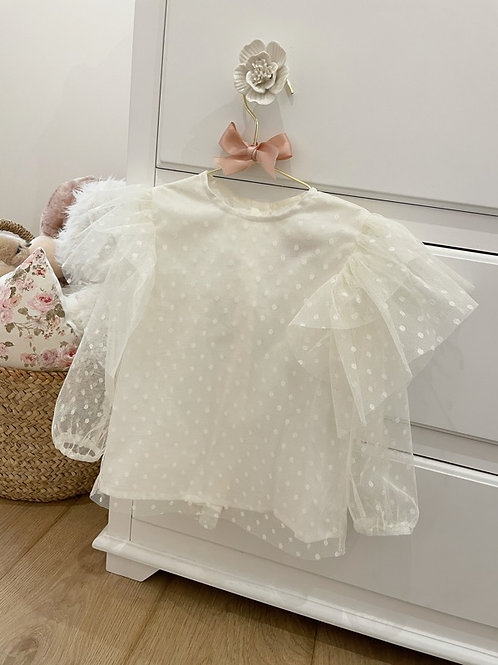 Blouse Tulle Ivory