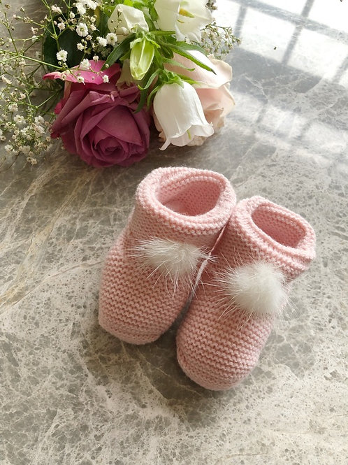 Pink Furry Booties