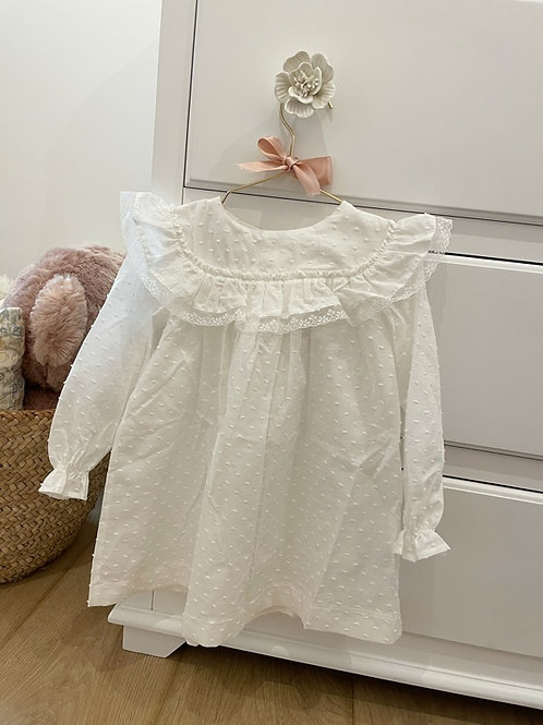 Night Gown Ivory Plumeti