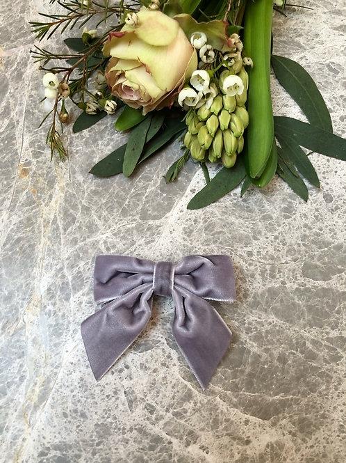 Bow velvet Lavender