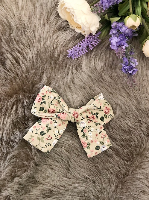 Bow Floral Beige