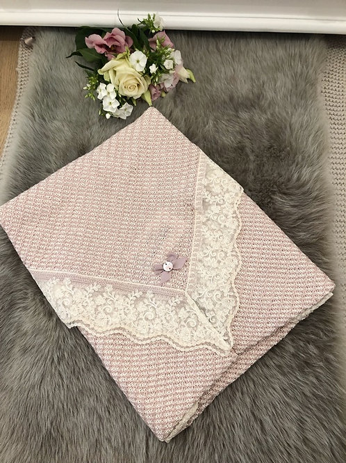 Luxury powder pink Blanket