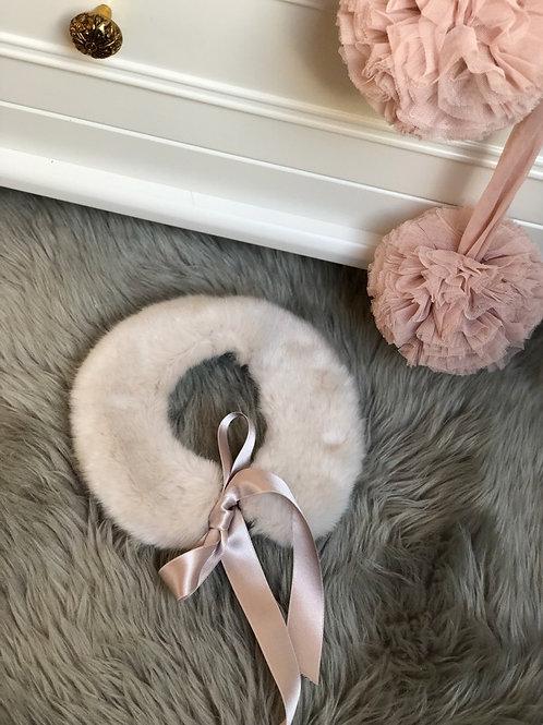 Fur Collar Soft Beige
