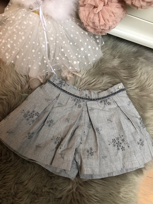 Shorts Grey Broderie