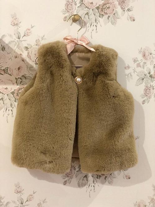 Furry Gilet Beige