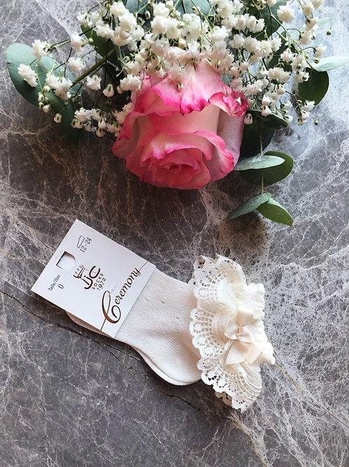 Luxury Lace Ankle Socks Ivory