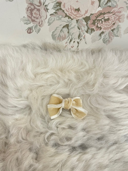 Bow Velvet Mini Ivory