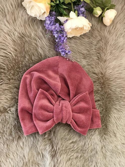 Turban Hat Velvet Vino