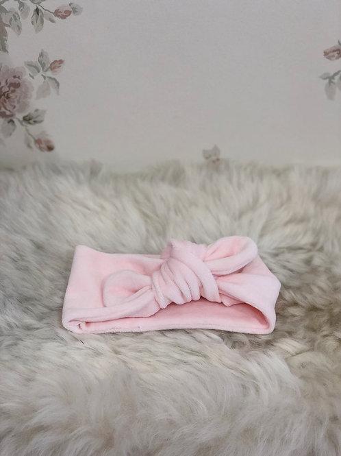 Knotted Headband Velvet Pink