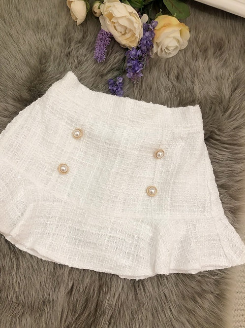 Skirt Tweed Ivory