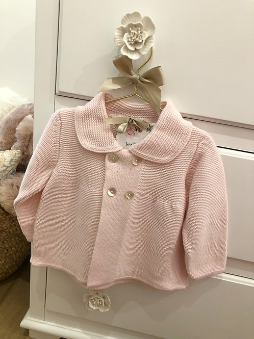 Soft Pink Knitted Jacket