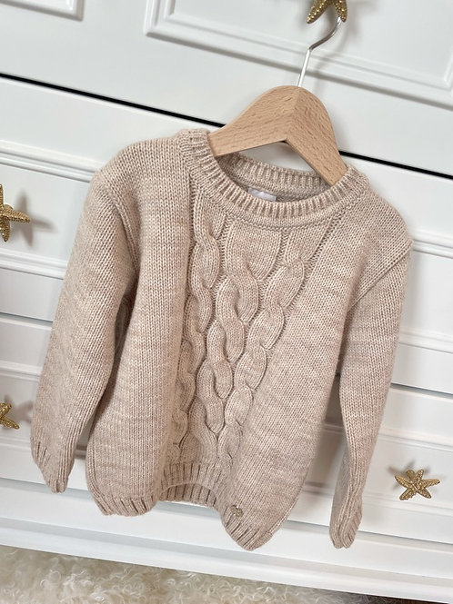 Paz Sweater Cable Sand