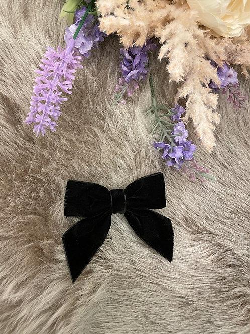 Bow velvet Black