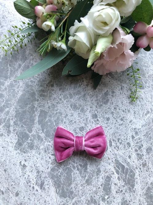 Velvet Bow Ruby Pink mini