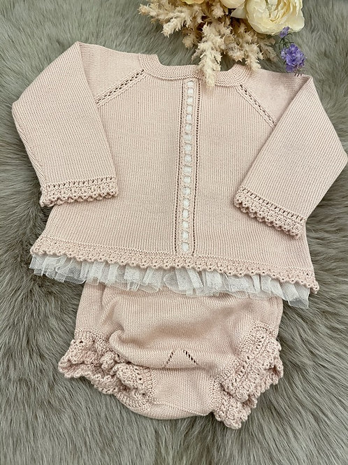 Set Knitted Nude Lace