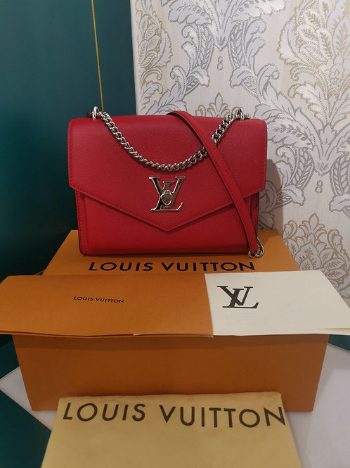 BNIB Louis Vuitton mylockme bb Red Calfskin with SHW